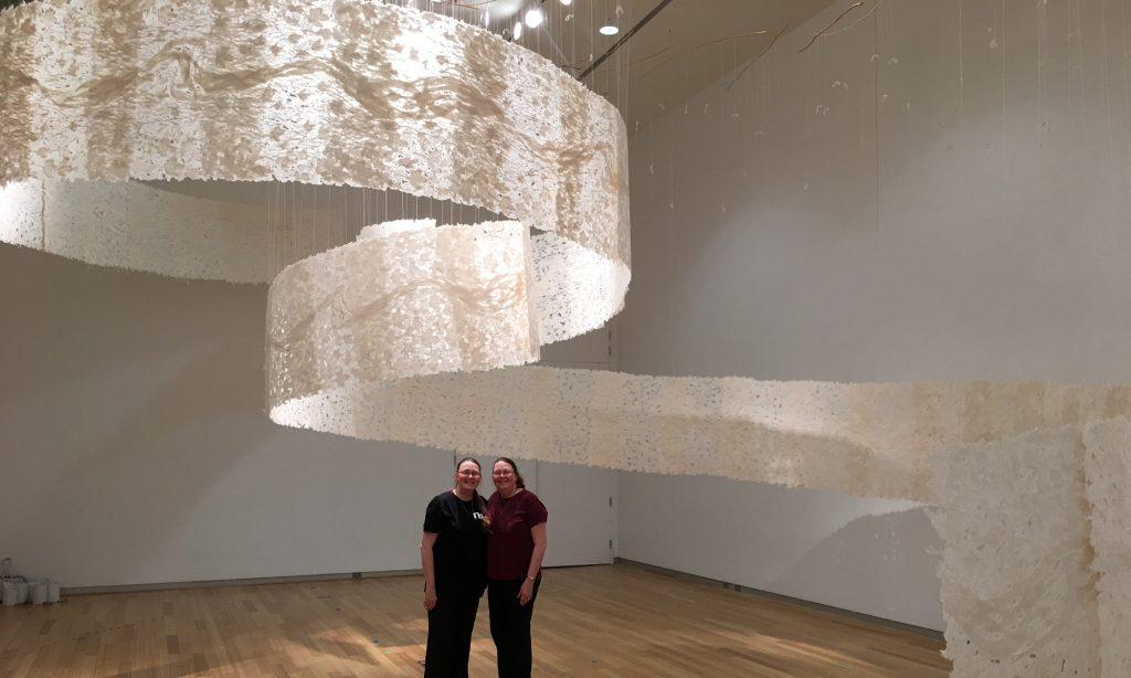 BookEnviron Herron installation of handmade paper with artists