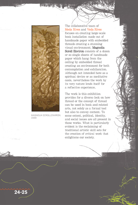 a selected page featuring the Rives' art in an exhibition catalog