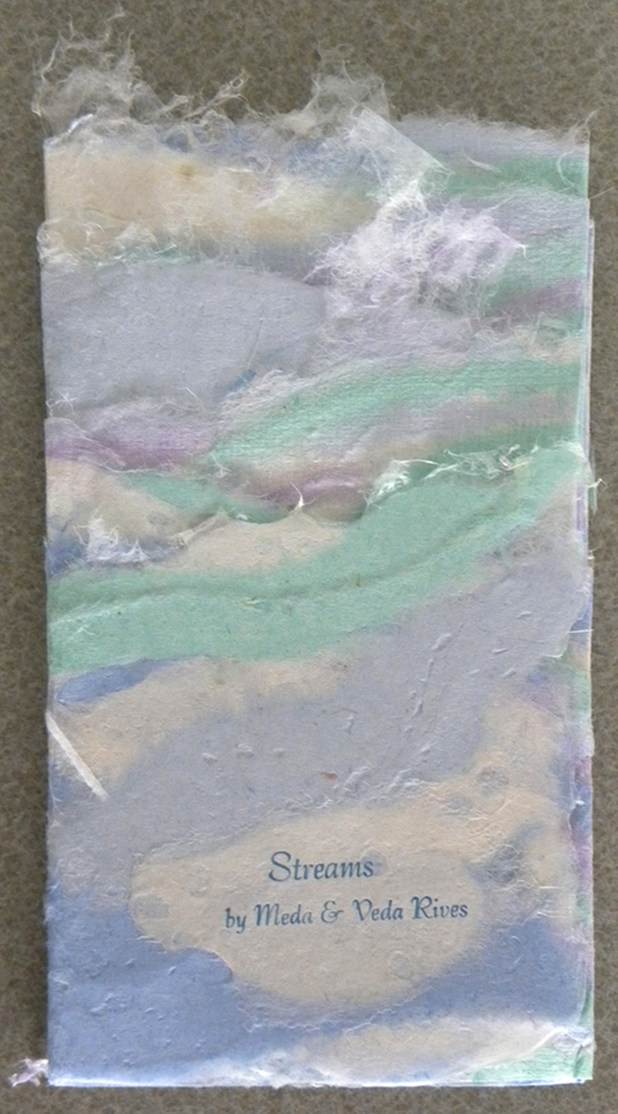 small artists' book with water imagery